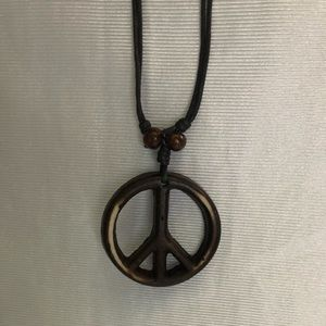 Jewelry - Anti-War Peace Sign Symbol Pendant Necklace